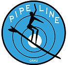 Pipeline Oahu Hawaii 1960s Vintage Style Surfing Travel Sticker Decal