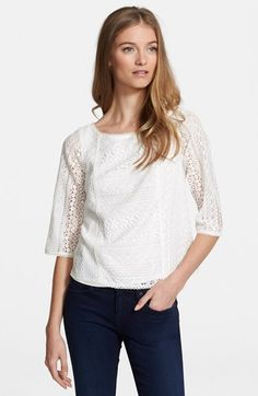 Joie 'Tulia' Lace Top available at #Nordstrom