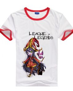League of Legends t shirt for girls hero Lulu printed round neck tee-