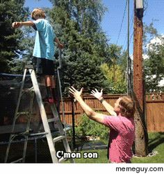 Dad teaching his son the most important lesson in life! Hahaha..(GIF) So Messed up!!