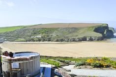 Just another reason we love The Scarlet.those hot tubs! Cornwall Hotels, Cornwall Coast, Cornwall Breaks, Weekends Away, Adults Only, Hotel Reviews, Scarlet, Paths, Beach House