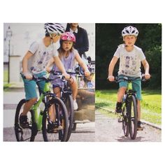 Prince Christian and Princess Isabella biking with their mother, Mary and their twin siblings, Vincent & Josephine at the garden of Grästen Palace.