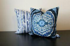 Decorative Throw Pillow Set Duralee Blue by JuliaSherryHome