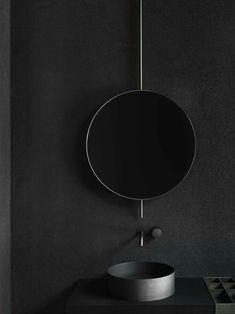 Mirror elements, 2017 Boffi Photo by Tommaso Sartori - . Mirror elements, 2017 Boffi Photo by Tommaso Sartori – Black Bathroom Taps, Dark Bathrooms, Modern Bathroom, Bathroom Sinks, Small Bathroom, Bathroom Wall, Black Taps, Boffi, Dark Interiors