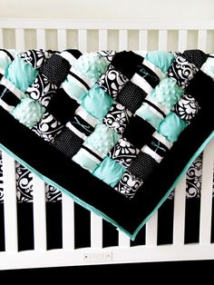 So cute!!! Puff Baby Quilt - DIY