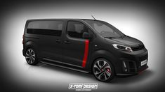 Peugeot Traveller, Citroen Spacetourer and Toyota Proace vans get rendered as faster and more aggressive GTi, Racing and TRD versions.
