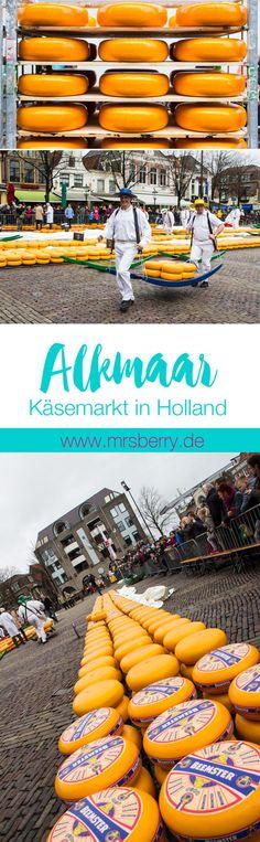 Der Käsemarkt in Alkmaar (Holland/Niederland) ist der größte und meistbesuchte Käsemarkt der Welt. Weitere Infos auf http://mrsberry.de