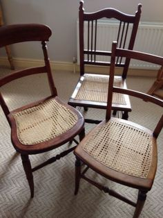 Selection of edwardian / #victorian #cane/upholstered seat #bedroom chairs,  View more on the LINK: http://www.zeppy.io/product/gb/2/162209278030/