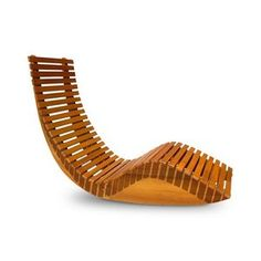 Natural Eucalyptus Wood Outdoor Chaise Lounge Chair | Shop At The Foun.