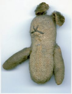 """Teddy,"" the brave stuffed bear who went to the front lines of Passchendaele with Aileen Rogers' father. Read his story in the picture book A Bear in War."