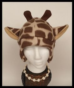Fleece Giraffe Hat. $35.00, via Etsy.