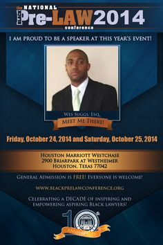 Meet Wilbur E. Suggs, Esq., Senior Associate Director, Tax Controversy Services, alliantgroup, LP (Houston, Texas), at the 10th Annual National Black Pre-Law Conference and Law Fair 2014 on Friday, October 24, 2014 and Saturday, October 25, 2014 at the Houston Marriott Westchase in Houston, Texas.   Free of charge! Everyone is welcome! Register today! www.blackprelawconference.org/ #blackprelawconference #lawyerssupportingfuturelawyers