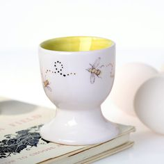 Bee+Egg+Cup+by+JuliaDavey+on+Etsy,+£12.00