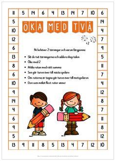 Öka med två, fem eller tio Educational Activities For Kids, Math Addition, Teaching Materials, Working With Children, Teaching Math, Maths, Math Games, Mathematics, Montessori