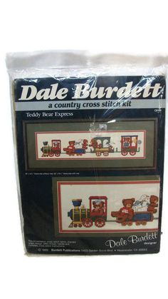 Dale Burdett Teddy Bear Express CK175 Cross Stitch Kit Train Unopened NEW 1985 #DaleBurdett