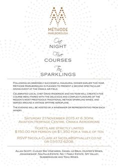 We are doing it again. 1 night, 5 courses, 10 sparklings! November 21st 2015. Dont Miss Out! #MethodeMarlborough pic.twitter.com/MWG0nOXrLy