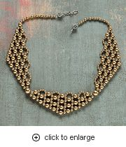 Prim and proper: necklace, netting (Download Now)