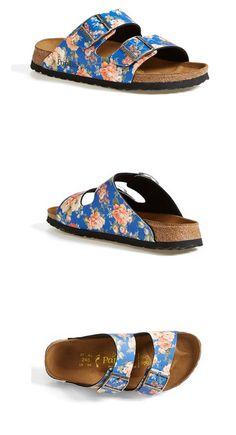 Birkenstock Arizona Floral Print Sandal #flats #sandals #sandal #floralsandal #birkenstock