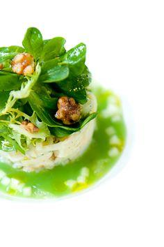 Stone Crab Salad with Celery Rémoulade, Green Apple Gelée & Finger Lime