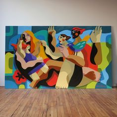 Rogerio Pedro Arte Pop, Graffiti Art, Acrylic Painting Canvas, Canvas Art, Art Brut, Mural Wall Art, Collaborative Art, Naive Art, Art Plastique
