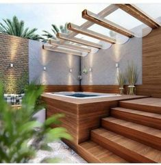Outdoor spa, hot tub deck, hot tub gazebo, backyard with hot tub, pool deck Outdoor Bathtub, Hot Tub Gazebo, Hot Tub Backyard, Hot Tub Garden, Small Backyard Pools, Backyard Patio, Outdoor Spa, Backyard Pool Designs, Patio Design