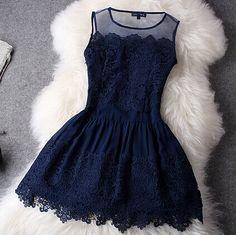Slim Embroidered Sleeveless Dress #ER110109