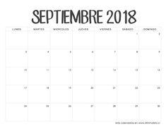 Calendario Septiembre 2018 Calendario 2018 Excel, Days And Months, Ideas Para Fiestas, School Hacks, School Tips, Worksheets, Planners, Colombia, Halo