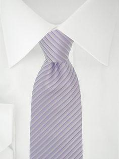 Lila violett gestreifte Krawatte (hell)