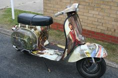 Quadrophenia scooter vehicle wrap graphics produced by House of Flags