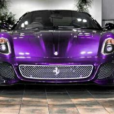 Unique Purple Ferrari 599!  Too bad you couldn't replace the grand am with this Tequila!!!