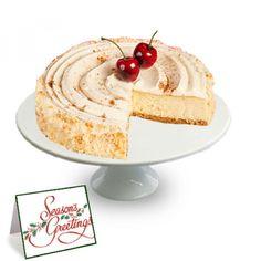 Eggnog Cheesecake Eggnog Cheesecake! Featuring a gingerbread base, luscious eggnog cheesecake, and swirly