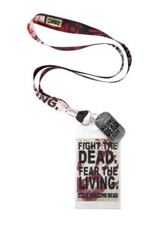 The Walking Dead Fight The Dead Lanyard | Hot Topic