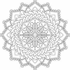 Flower Mandala Coloring Pages #10