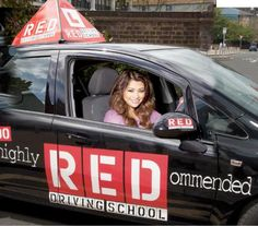 #VanessaWhite from #TheSaturdays is learning to drive with RED #DriveRED