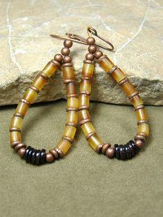 Native Hoop Earrings  by StoneWearDesigns on Etsy