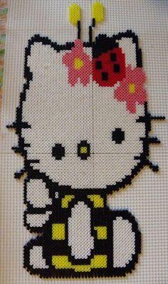 hello Kitty bee hama beads by perleshamanews