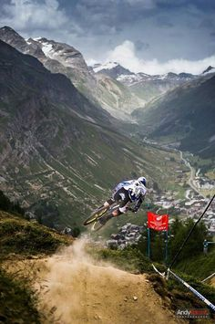 Brooke MacDonald at the MTB World Cup at Val d'Isère in 2012,