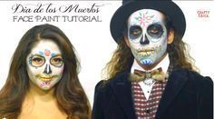 Dia de los Muertos Face Paint Tutorial by http://CraftyChica.com featuring @boifromipanema and @mayainthemoment