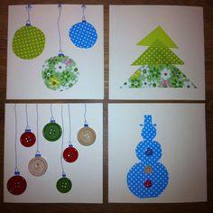 Kerstkaartjes gemaakt van plakstof (Blokker). Kerst Christmas DIY