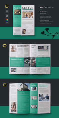 #newsletter #brochure #template #indesign #templates
