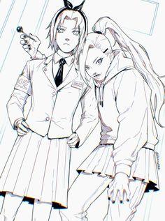 Naruto Shippuden Ino, Shikamaru, Itachi, Boruto, Sakura Haruno, Cute Edgy Outfits, Dope Art, Aesthetic Anime, Cute Girls