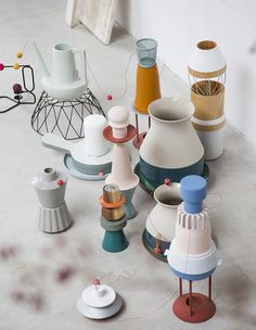 soft ceramics #stylecookie #softmachinery #color - including watering can Studio Elke van den Berg