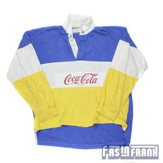 Coca-Cola Rugby shirts-Mine was hot pink and black and of course you had the 3 pairs of matching slouch socks to go with the Keds