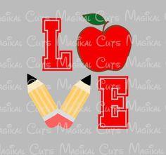 Love Teacher SVG, Studio, EPS, and JPEG Digital Downloads – Magikal Cuts
