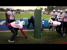 Defensive Line Drill: Stance and Shock Drill: Gary Salgado Youth Football Drills, Football Defense, Football 101, Football Training Drills, New York Jets Football, Running Drills, Football Workouts, Vikings Football, Football Quotes