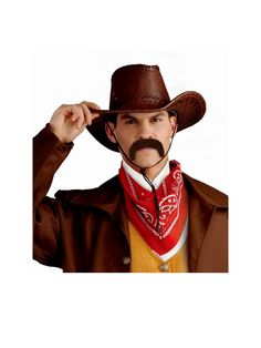Hey partner, you need the perfect finishing touch to that cowboy costume? Cowboy Costumes, Wild West Costumes, Halloween Party, Halloween Costumes, A Night To Remember, Perfect Party, Moustache, Cowboy Hats, Touch