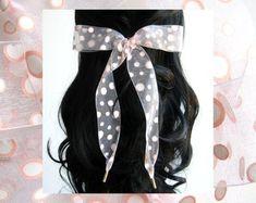 Hair Ribbons White & Pink Polka Dot Organza Hair by HairYeHairYe Hair Ribbons, Ribbon Hair, Hair Bows, Bad Hair Day, Pink Polka Dots, Boho Chic, Hair Accessories, Long Hair Styles, Handmade