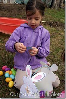 Easter egg prayers