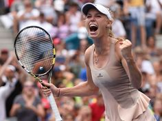 Caroline Wozniacki after beating Maria Sharapova.