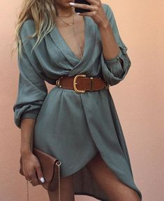 Venezia Dress | #SaboSkirt  Vibing khaki + tan  @staceytonkes